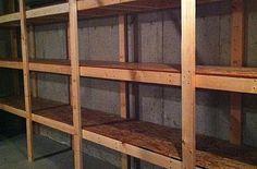 DIY Basement Storage