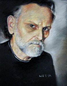 Máté Sándor: Önarckép Pastel Paintings, Portrait, Artwork, Artist, Work Of Art, Headshot Photography, Auguste Rodin Artwork, Artists, Portrait Paintings