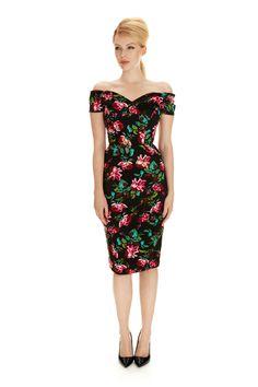 Fatale Provence Rose Pencil Dress
