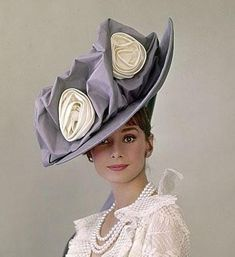 Audrey Hepburn in an Ascot hat designed by Cecil Beaton and made (probably) buy Madame Paulette