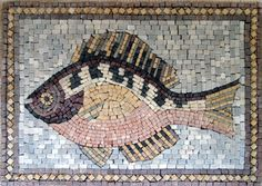 Mosaic Rooster | Mosaics - Animal Designs - Fish - AN89