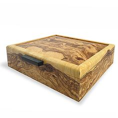 Handcrafted (USA) Olive Ash Burl Wood Men's Valet Box $269.99 + more luxury keepsake boxes perfect to give with a fine jewelry gift, travel or event tickets for a wow presentation.