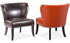 Janie Faux Leather Accent Chair, Direct Ship