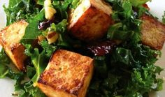 Tofu croutons — crispy on the outside and soft and tender inside — are a perfect counterpoint to the verdant kale salad with its sweet cherries and crunchy walnuts. An Asian-inflected dressing completes the dish. Kale Salad, Salad Bowls, Dried Cherries, Sweet Cherries, Crispy Tofu, Most Popular Recipes, Plant Based Recipes, Meal Planning, Main Dishes
