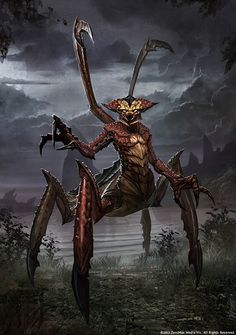 I remember seeing this on dA. Gentleman spider is the name of the work and creature I believe.