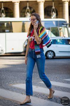Andreea Diaconu Street Style Street Fashion Streetsnaps by STYLEDUMONDE Street Style Fashion Photography