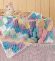 Ravelry: Crochet Checkered Pattern Baby Blanket pattern by Jody Hopper Crochet Afgans, Baby Afghan Crochet, Baby Afghans, Tunisian Crochet, Knit Crochet, Ravelry Crochet, Free Crochet, Crochet Pattern, Crochet Crafts