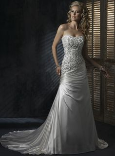 Strapless Beaded Wedding Dress....i just thought this was too beautiful to not pin!! Absolutely GORGEOUS!!