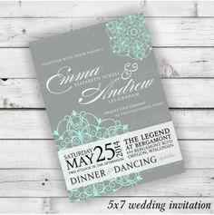 DIY Hochzeit Einladung Printable  Dahlia Design von PrintablesbyJen, $25.00