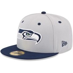New Era Seattle Seahawks 2Tone 59FIFTY Fitted Hat - Gray - $34.99