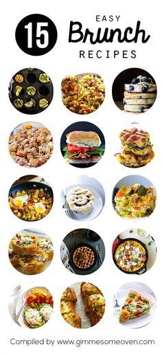 15 Easy Brunch Recipes | gimmesomeoven.com #breakfast