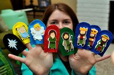 The Tillery Times: DIY Nativity Finger Puppets