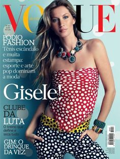 Gisele Bundchen covers the July 2012 issue of Vogue Brazil. Photographed by Patrick Demarchelier.