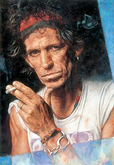 Portrait of Keith Richards of the #RollingStones by Sebastian Kruger