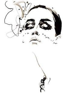 David Downton another sketch artist who uses too large areas of black or color.  When he lightens up he is superb.