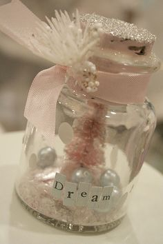 Beautiful jar art, craft idea, diy, soft and romantic