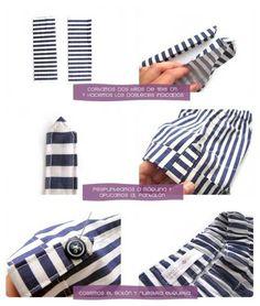 Tutorial paso a paso que muestra como hacer un conjunto marinero para bebé con patrón del pantalón incluido