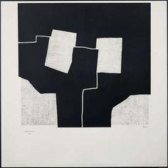 "EDUARDO CHILLIDA, ""Urrutiko,"" 1972, etching"