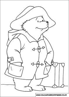 Paddington Bear paintable images