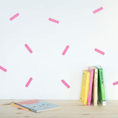 Sprinkle Shower Wall decal / Wall Sprinkles Vinyl by MadeofSundays