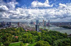 Door De Mens Gemaakt Rotterdam Holland Nederland Lucht Wolk Haven Wallpaper