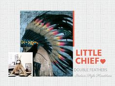 Double Feather Kid Indian Headdress, indischer Kopfschmuck, Coiffe Indienne Style Indien, Headdress, Kids Outfits, Feather, Indian, Native American Headdress, Indian Costumes, Children, Indian Head Jewelry