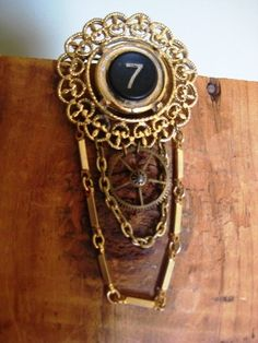 Items similar to Lucky Number 7 Steampunk Brooch on Etsy Lucky 7, Lucky Number, Number 7, Body Chains, Steampunk, Brooch, Wallet, Trending Outfits, Unique Jewelry