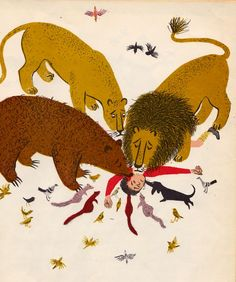 The Happy Lion and the Bear, Louise Fatio illustrated by Roger Duvoisin
