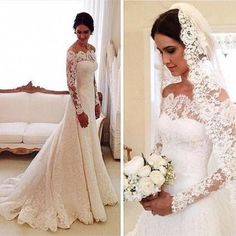 Wedding Dress for Bride 2016,Wedding Dresses with sleeves,Long Sleeves Bridal Gowns