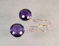 SALE Amelie earrings purple Amethyst with finest by vnvdesign