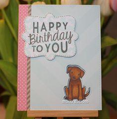 maikreations.de Eine raffinierte Geburtstagskarte für Hundeliebhaber. Ausführliche Erklärungen und die Materialliste gibts auf dem Blog! ;o)