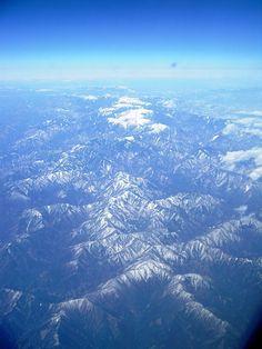 飛行機から見た南アルプス