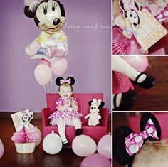1st Birthday minnie mouse photo shoot!