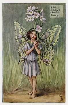 LadysSmock Flower Fairy Vintage Print c1927 by TheOldMapShop