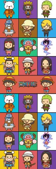 Bepo, Brook, Zoro, Kumashi, Usopp, Sanji, Robin, Chopper, Caesar, Bon Clay, Law, Hancock e Luffy - One Piece