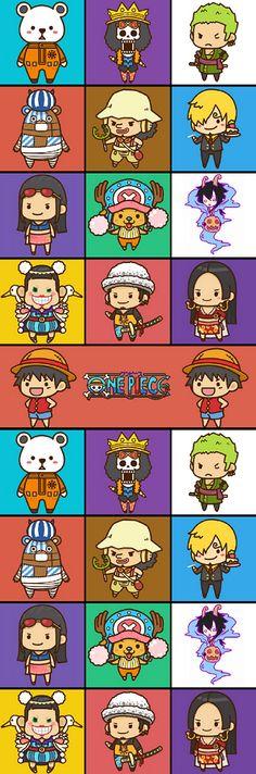 Bepo, Brook, Zoro, Kumashi, Usopp, Sanji, Robin, Chopper, Caesar, Bon Clay, Law, Hancock e Luffy - One Piece