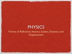 1 scalars, vectors, distance, displacement