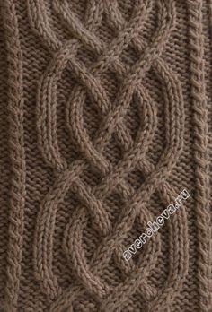 узор 416 классическая коса 36 петель | каталог вязаных спицами узоров