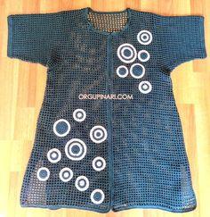 KAFES ÖRGÜ HIRKA - Örgü Pınarı Cardigan En Maille, Knit Cardigan, Spring Hairstyles, Crochet Lace, Mantel, Cold Shoulder Dress, Dress Up, Knitting, How To Wear