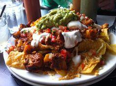 El Borracho's Vegan Nachos! Vegan Recipes, Cooking Recipes, Cooking Ideas, Vegan Food, Healthy Food, Vegan Nachos, Food Humor, Queso, Love Food