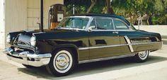 1953 Black Lincoln Capri hardtop coupe,