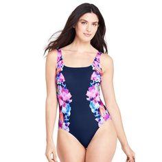 610caa2580 Details about Womens Lands End Swim Suit Bottom Tummy Control Blue Aqua 14
