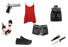 """You Mess With My Friends... You Mess With Me"" by demonlover2002 ❤ liked on Polyvore featuring MANGO, WearAll, Converse and Leg Avenue"