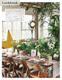 Foliage And Metallic Copper Wedding Styling - Featured In Brides Magazine