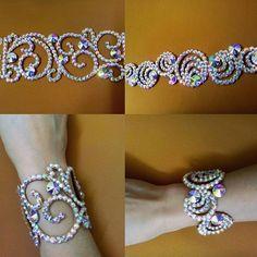 Браслетики на любой вкус #танцевальнаябижутерия #браслеты #украшенияручнойработы #стразы #dancejewelry #bracelets #accessories #bellydance #ballroomdance #latindance