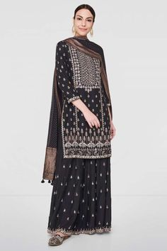 Saira Suit - New Arrivals - Woman - Shop Indian Attire, Indian Ethnic Wear, Indian Wedding Outfits, Indian Outfits, Pakistani Dresses, Indian Dresses, Indian Designer Suits, Dress Neck Designs, Indian Lehenga