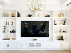 Built In Tv Cabinet, Built In Wall Units, Built In Shelves Living Room, Living Room Wall Units, Living Room Tv Unit Designs, Home Living Room, Living Room Decor, Tv Cabinet Wall Design, Built In Media Center