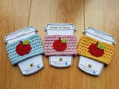 Items similar to Apple Cup Cozy on Etsy Miss Smith, Apple Cup, Take Away Cup, Cozy Coffee, Leaving Gifts, Cup Sleeve, Help Me Grow, Party Ideas, Gift Ideas