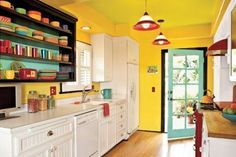 Wow! Make your kitchen the most colourful room in your house with these great ideas...