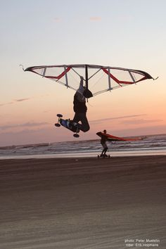 Kitewing Boarding! A great combination sport with loads of potential :)